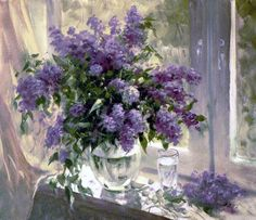 watercolor lilac painting