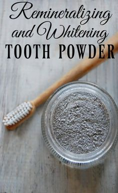 Have you heard of tooth powder? It's been around longer than toothpaste! This remineralizing and whitening tooth powder will help heal your teeth while whitening them at the same time! #toothpowder #remineralizing #whitening #activatedcharcoal #bentoniteclay #homemade #toothpaste
