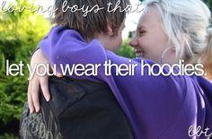 Loving boys that let you wear their hoodie