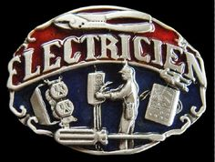 Electrician French Electricien Tools Occupational Belt Buckle Belts Buckles #electrician #electricien #beltbuckle #electricianbeltbuckle #boucledeceinture