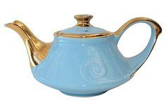 Blue & Gold Teapot