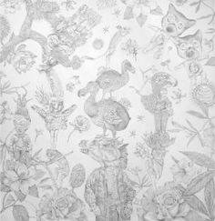 a collection of silverpoint drawings by Lori Field