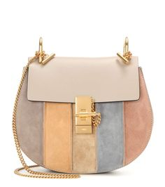 mytheresa.com - Drew Small leather and suede shoulder bag - Current week - New Arrivals - Luxury Fashion for Women / Designer clothing, shoes, bags