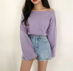 Korean Daily Fashion – Official Korean Fashion - New Site Lila Outfits, Purple Outfits, Teen Fashion Outfits, Cute Casual Outfits, Mode Outfits, Korean Outfits Cute, Korean Girl Fashion, Korean Fashion Trends, Asian Fashion