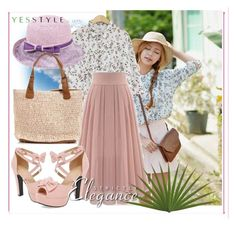 """""""Hello Summer Yesstyle"""" by amira-1-1 ❤ liked on Polyvore featuring Goroke, Summer, tops, summerstyle and yesstyle"""