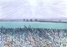 David Hockney | Grey Sun, East Yorkshire | 2003