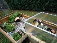 Frühbeet + Sandkasten als Außengehege für Schildkrötenbabies