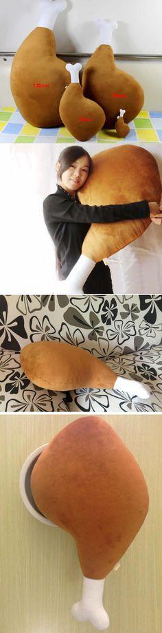 Chicken Leg Shaped Throw Pillow Plush Toys