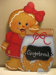 HP GINGERBREAD HANDPAINTED GINGER WALL HANGER 9 1/2