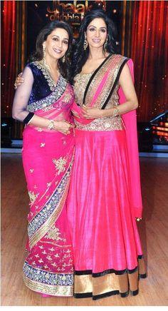 Madhuri & Sri Devi- wow Sri Devi looks incredibly amazing for her age