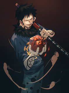 Trafalgar Law - One Piece Anime One Piece, One Piece Fanart, One Piece Images, One Piece Pictures, Zoro, Trafalgar Law Wallpapers, Anime Manga, Anime Art, One Piece Series
