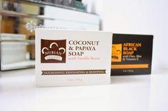 @hellnotes reviews #NubianHeritage African Black Soap and Coconut & Papaya bar soap.