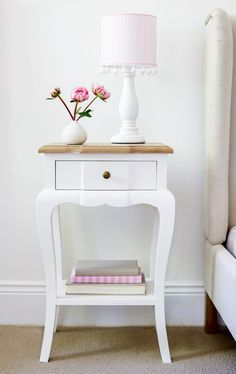 Small Bedside Table master bedroom bedside table. pottery barn. | may i please have a