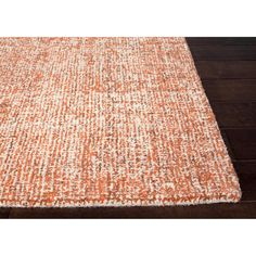 Handmade Ivory/ Orange Wool Easy Care Rug (8 x 10) | Overstock.com Shopping - The Best Deals on 7x9 - 10x14 Rugs