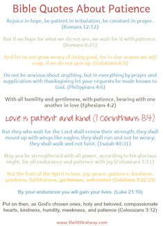 Let's look at some Bible quotes about patience. It's no coincidence I'm writing about patience...one week before Christmas.