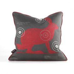 Jack Bullseye in Scarlet Pillow- home and garden design ideas