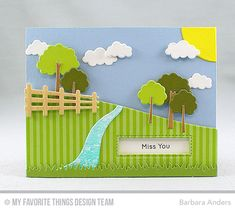 Handmade card from Barbara Anders featuring Spring Scene Builder Die-namics #mftstamps