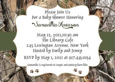Little hunter baby shower invitation shower invitations babies camo theme baby shower ideas and invitations filmwisefo Gallery