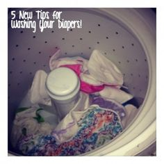 Tips for washing cloth diapers!