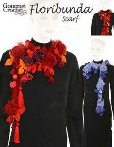 flowers/cords on a neckpiece