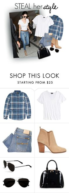 """Steal Her Style:Kendall Jenner"" by em-styles-16 ❤ liked on Polyvore featuring Billabong, Topshop, Nudie Jeans Co., Michael Kors, Calvin Klein and Relaxfeel"