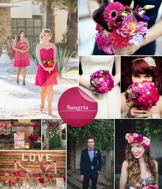 Pantone Colors Confirmed for Fall 2014 Wedding Trends Fuschia Wedding, Fall Wedding Flowers, Fall Wedding Colors, Autumn Wedding, Red Wedding, Queens Wedding, Sangria Wedding Colors, Sangria Color, Fall Sangria