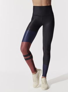 02ed87a861c839 ALO YOGA High-Waist Tech Lift Airbrush Legging Black/Earth Zennith LEGGINGS  Stirrup Leggings