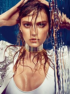 Sigrid Agren Creates a Splash for W Korea May 2013 Cover Shoot by Alexi Lubomirski | Fashion Gone Rogue: The Latest in Editorials and Campaigns