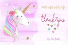 *FREE* Say thank you with the utmost sparkle! with this FREE, printable Magical Unicorn card...when you purchase the matching invitation: my #etsy shop: Unicorn Birthday Party Magical Fantasy Rainbow Stationery. http://etsy.me/2nrTDHA  #papergoods #unicorn #thankyou