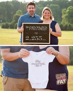 We prayed for 2,255 days...He Answered!  1 Samuel 1:27 Cutest-pregnancy-announcement-ever!  #pregnancy #announcement #infertility #pregnant