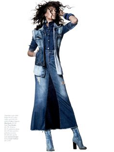 Denim is majorly popular this season, and Marie Claire Brasil July 2015 shows a different way to rock the trend with a new editorial putting the spotlight on distressed denim. Photographed by Rafael Pavarotti and ...