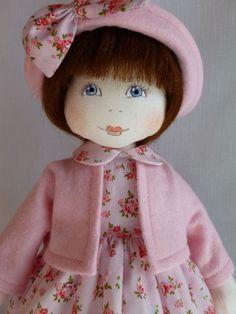 ROSIE. A 14ins rag/cloth handmade original doll by Brenda Brightmore. | eBay