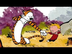 Earlier this year, artist Adam Brown animated Hobbes attacking Calvin. Now he's worked his magic on Calvin and Hobbes' dance moves. Calvin And Hobbes Wallpaper, Calvin And Hobbes Comics, Adam Brown, Ugly Americans, V Video, Gifs, Fun Comics, Comedy Central, Dance Moves