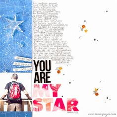 #papercraft #scrapbook #layout. You are my star by marivi at @studio_calico