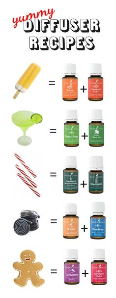 YUMMY! diffuser recipes using essential oils