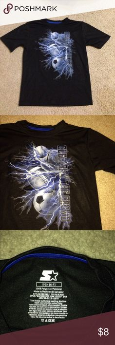 Electrify the Crowd shirt size 6/7 Excellent used condition shirt! Black with blue. Shirts & Tops Tees - Short Sleeve