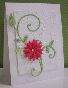 Stamping with Loll: Flower Flourish for SCS CAS sketch 389 Making Greeting Cards, Greeting Cards Handmade, Embossed Cards, Handmade Birthday Cards, Card Making Inspiration, Pretty Cards, Card Sketches, Sympathy Cards, Flower Cards