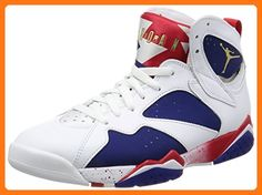 low priced 5e047 c7280 Nike Jordan Men s Air Jordan 7 Retro White Mtlc Gld Cn Dp Ryl Bl Fr  Basketball Shoe 10 Men US  Relive the glory days of MJ and his cartoon  friend in this ...