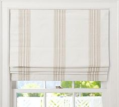 Captivating Fabric Roman Shades Cordless and Riviera Stripe Cordless Roman Shade Pottery Barn 29322 is among images of Roman Shades concepts for your resid Plywood Furniture, Furniture Slipcovers, Outdoor Furniture, Furniture Design, Painted Furniture, Pottery Barn, Blue Pottery, Roman Shades Kitchen, Farmhouse Roman Shades