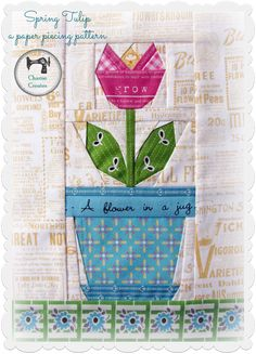 My Spring Tulip paper piecing pattern is the perfect pattern for making a spring inspired project! It would be a lovely quilt, tote bag or ...