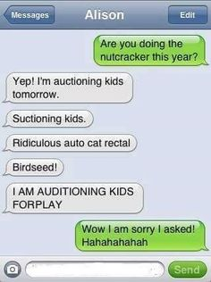 Here are some funny autocorrect texts, some damn autocorrect, some funny texts messages, and some of the funniest autocorrects. You can have a good laugh reading the auto correct texts and funny sms messages. Funny Text Fails, Funny Texts, Funny Jokes, Drunk Texts, 9gag Funny, Memes Humor, Funny Stuff, Freaking Hilarious, Hilarious Stuff