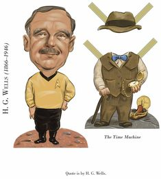 Dover Publications Sample: Literary Greats Paper Dolls: H. G. Wells