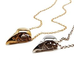 BIRD SKULL NECKLACE SILVER | Emilie Thomas