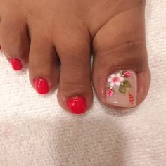 Pretty Toe Nails, Cute Toe Nails, Great Nails, Perfect Nails, Toe Nail Color, Toe Nail Art, Nail Colors, Pedicure Nails, Diy Nails