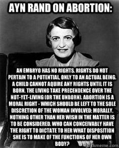 The Teapublicans who profess to follow in Ayn Rand's footsteps didn't even get this on right!...