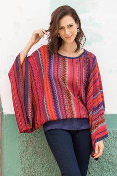 Knit World, Diy Shirt, Sweater Fashion, Kimono, Knitting, Sleeves, Crochet Sweaters, Classy Fashion, Ruffles