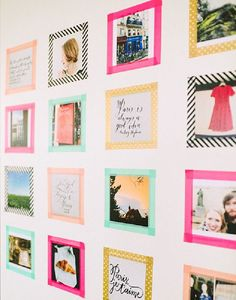 5 ingenious DIY hacks: creative wall decoration just do it yourself .- 5 ingenious DIY hacks for DIY wall decoration - Tape Wall Art, Washi Tape Wall, Washi Tape Crafts, Washi Tapes, Diy Washi Tape Frames, Tape Art, Diy Washi Tape Room Decor, Diy Washi Tape Picture Frame, Washi Tape Uses