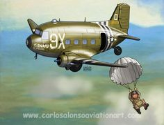 """Douglas C-47 """"The SNAFU Special"""" (95th Troop Carrier Squadron, 440th Troop Carrier Group), that took part in the Battle of Merville Gun Battery, June 6, 1944"""