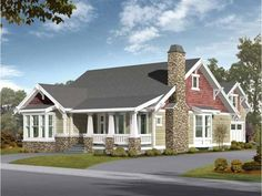 Craftsman House Plan with 2570 Square Feet and 5 Bedrooms from Dream Home Source | House Plan Code DHSW52571