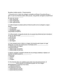Questões multipla escolha  diferenciação by Moises Ribeiro via slideshare